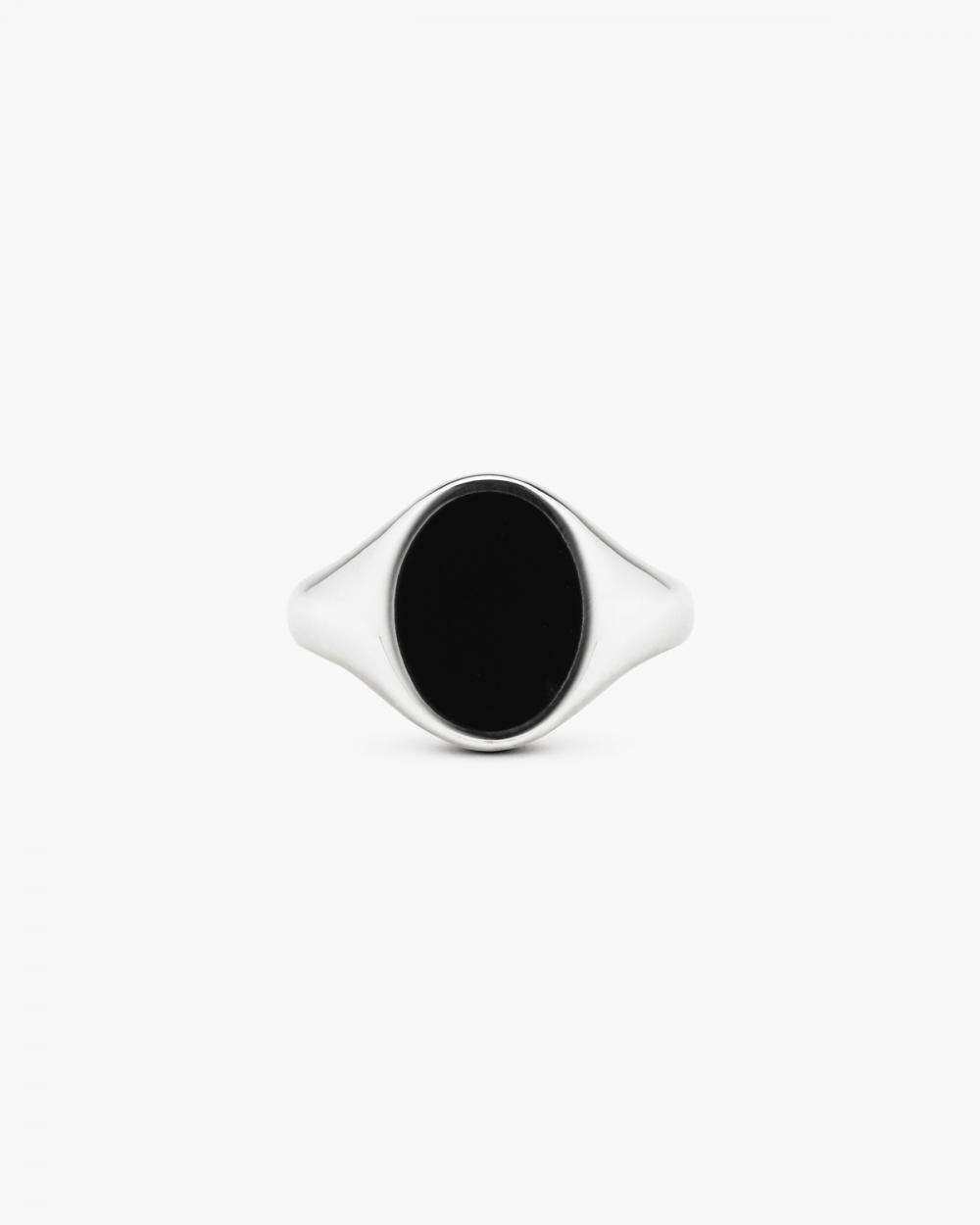 Rings OVAL BLACK ENAMEL SIGNET RING NOVE25