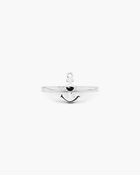 ANCHOR & HEART FINE RING