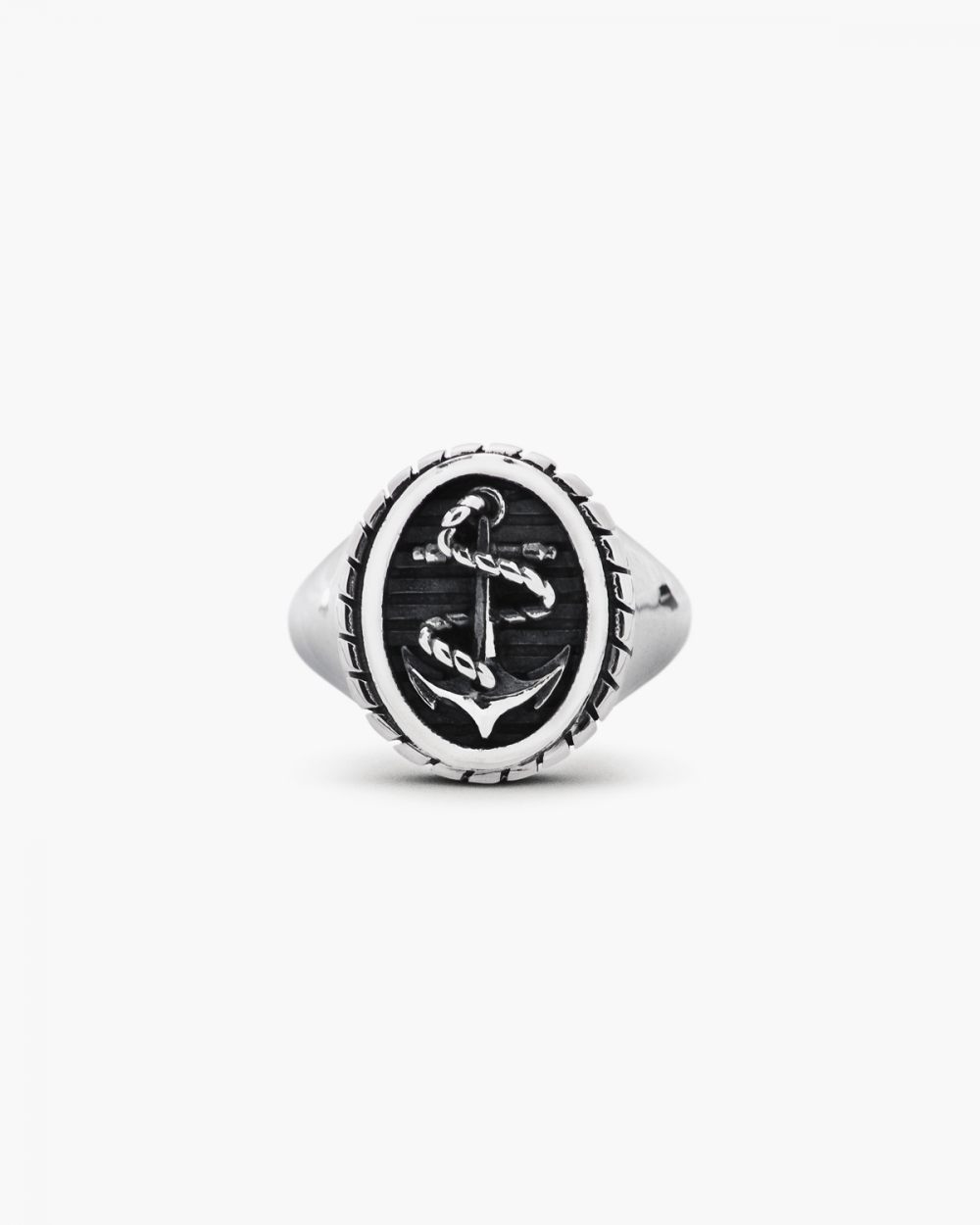 Rings ROPE & ANCHOR OVAL SIGNET RING NOVE25