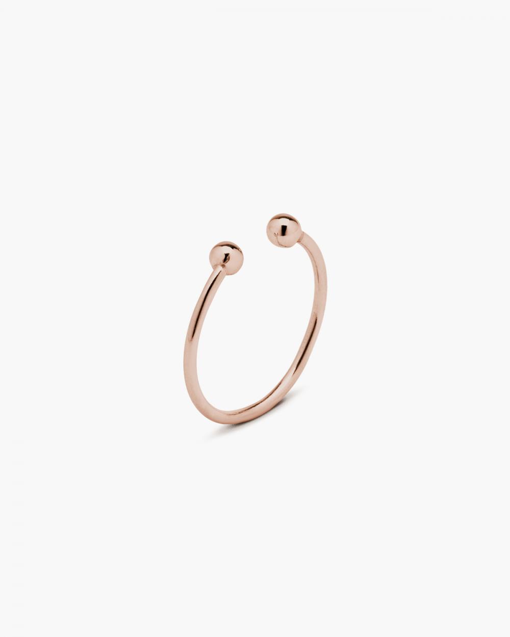 Rings PINK GOLD SPHERE PIERCING RING NOVE25