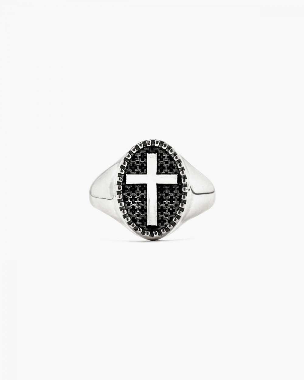 Rings BASIC CROSS SIGNET RING NOVE25