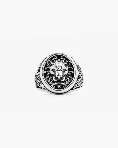 HERALDIC PANTHER SIGNET RING