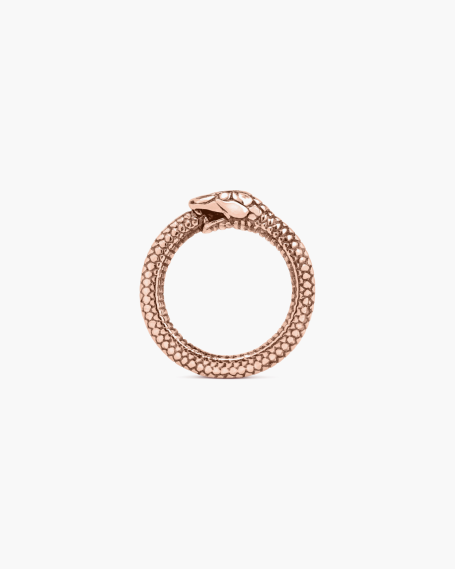 PINK GOLD OUROBOROS RING