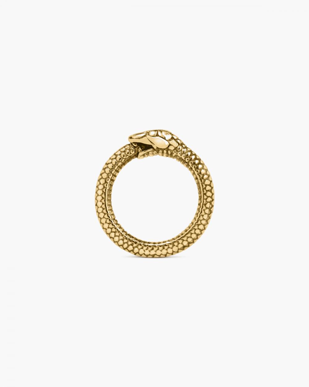 Rings YELLOW GOLD OUROBOROS RING NOVE25