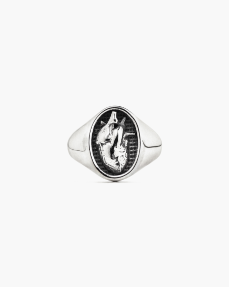ANATOMICAL HEART PINKY RING