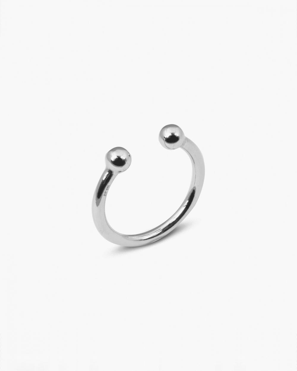 Rings SILVER SPHERES BIG PIERCING RING NOVE25