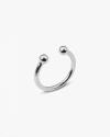 anello piercing sfere grande argento