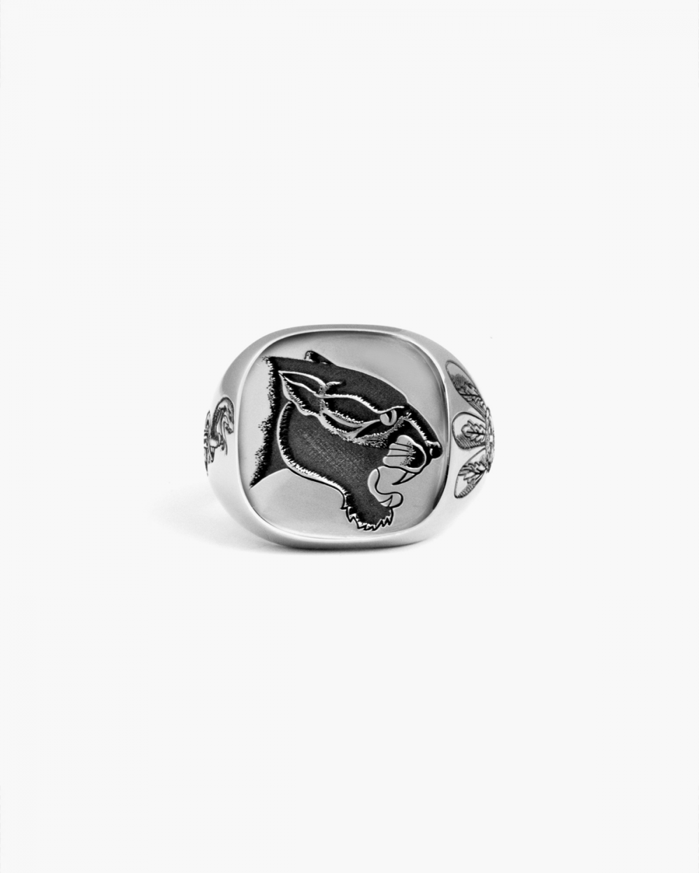 Rings SQUARE PANTHER TCB SIGNET RING NOVE25