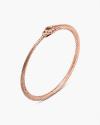 pink gold ouroboros bracelet