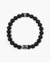 onyx small skull bracelet