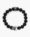 onyx big skull bracelet