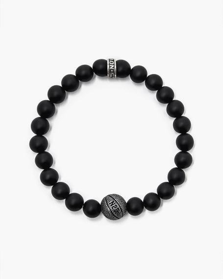 ONYX & BASKET BALL BRACELET