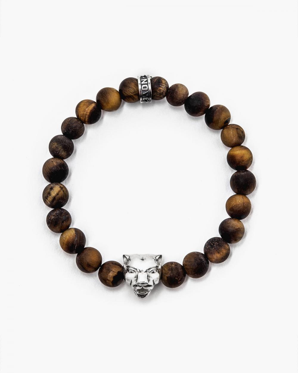 Bracelets TIGER'S EYE & SILVER PANTHER BRACELET NOVE25