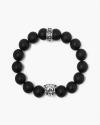 onyx silver panther bracelet