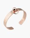 bracciale piercing sfera e cerchio oro rosa