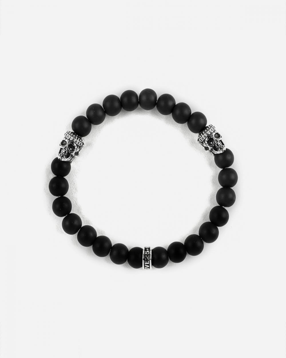 Bracelets DOUBLE KOLIMA SKULLS ONYX BRACELET NOVE25
