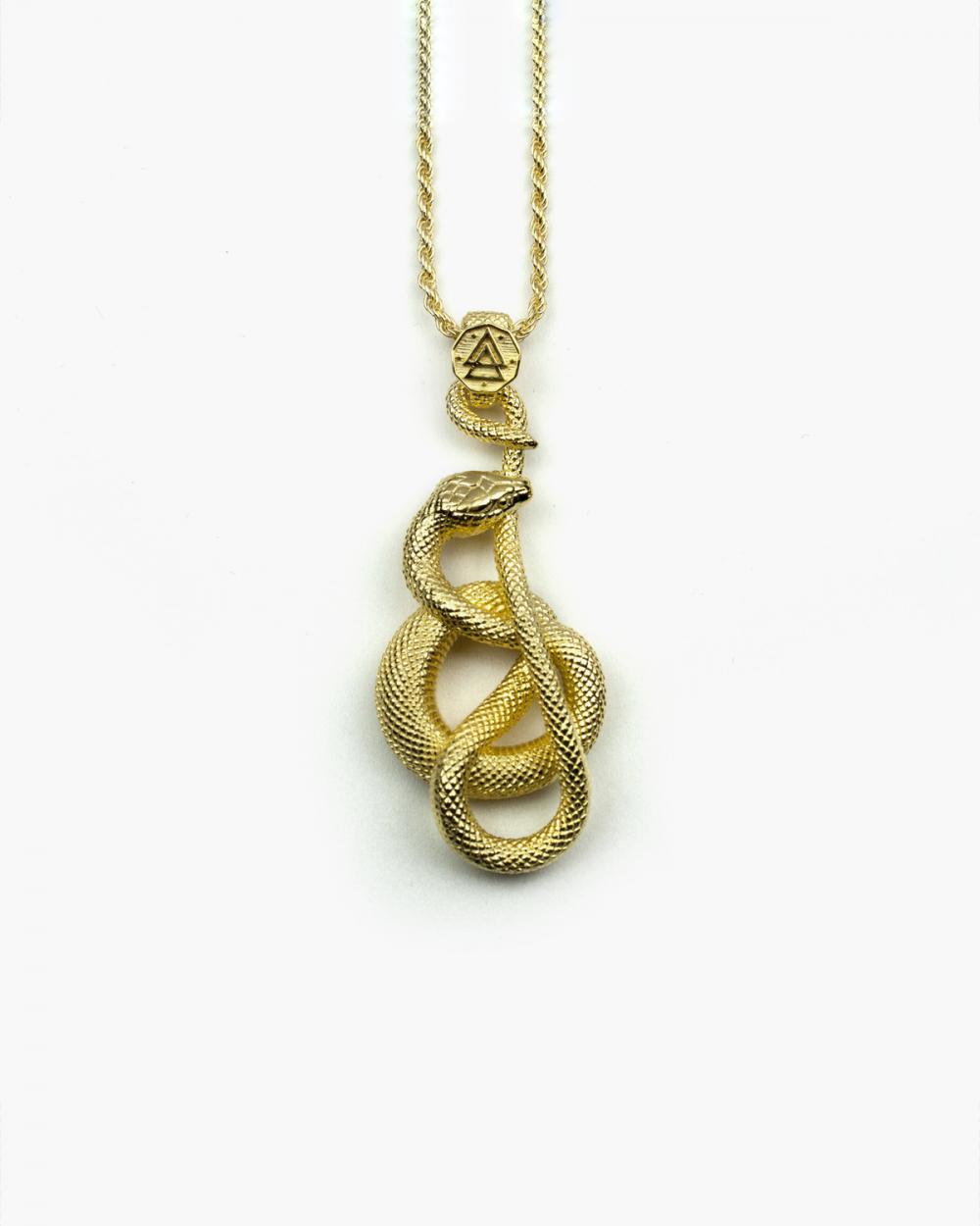 Necklaces YELLOW GOLD OUROBOROS NECKLACE NOVE25