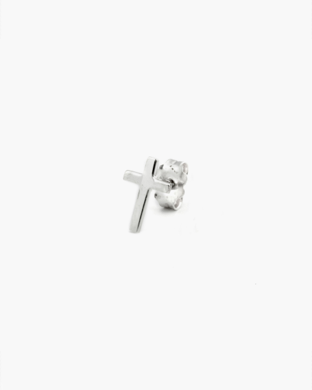 BASIC CROSS SINGLE EARRING