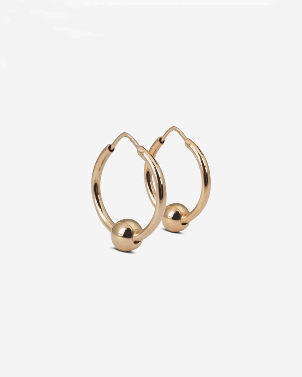 Earrings PINK GOLD SPHERES PIERCING PAIR EARRINGS NOVE25