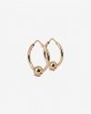 pink gold spheres piercing pair earrings