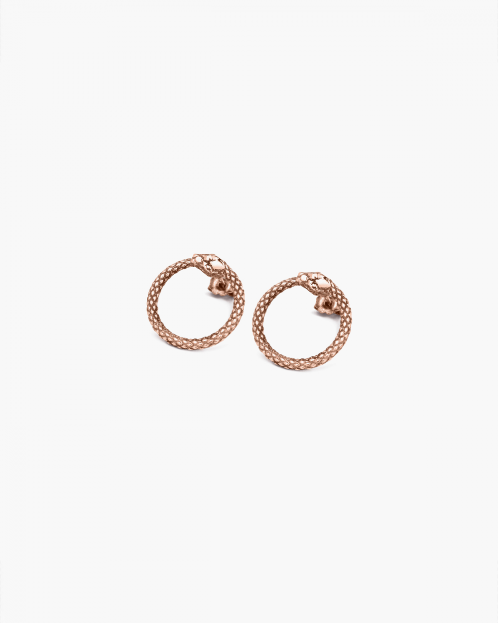 Earrings PINK GOLD OUROBOROS PAIR EARRINGS NOVE25