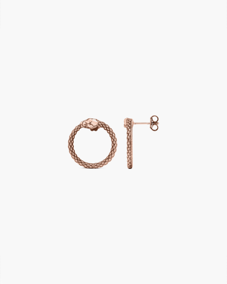 PINK GOLD OUROBOROS PAIR EARRINGS