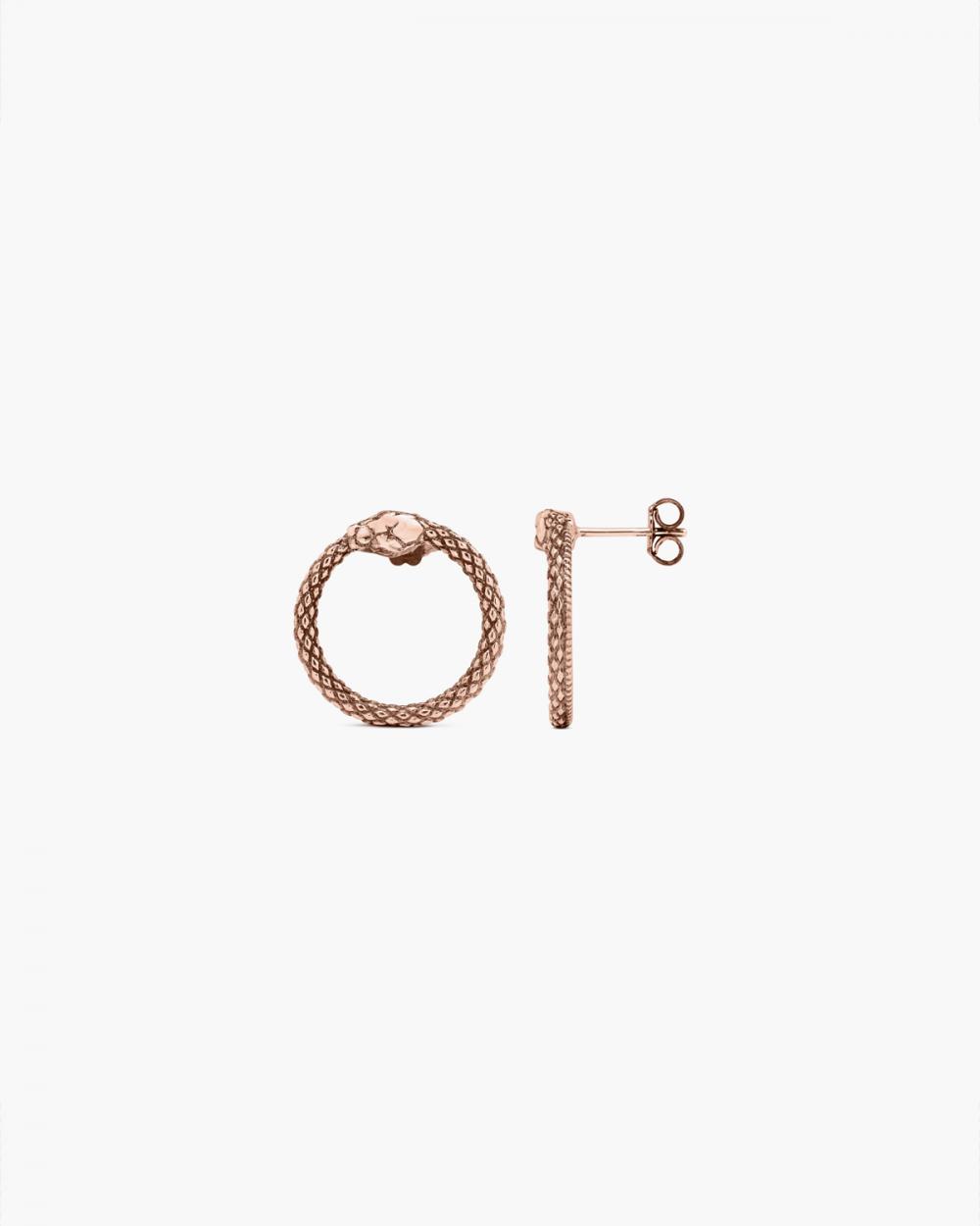 Earrings PINK GOLD OUROBOROS PAIR EARRINGS NOVE25