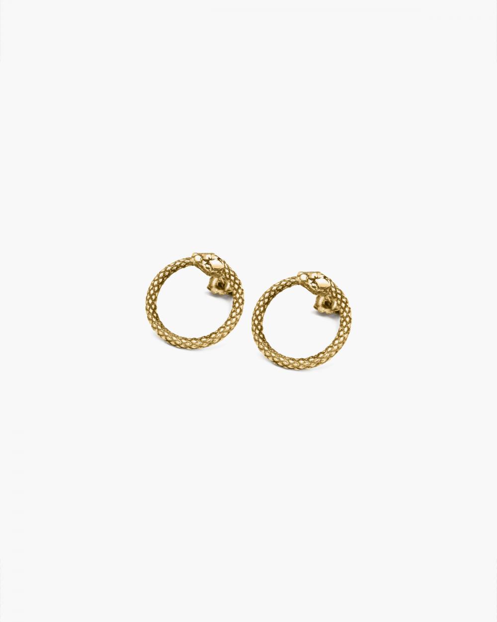 Earrings YELLOW GOLD OUROBOROS EARRINGS NOVE25