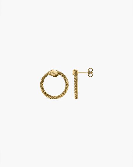 YELLOW GOLD OUROBOROS EARRINGS