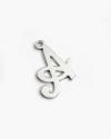 big cursive letter pendant