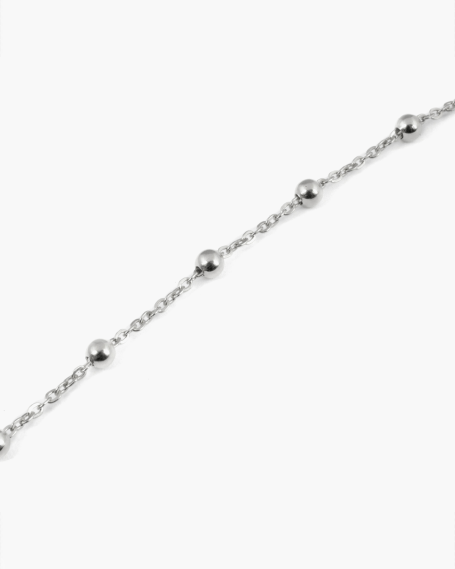 MINI ROSARY SILVER ANKLET