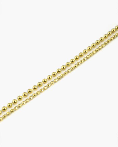 YELLOW GOLD DOUBLE LAYER ANKLET