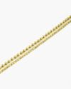 cavigliera due fili sfere oro giallo