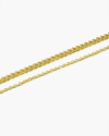 anklet two wires grum and yellow gold cable chain