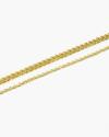 cavigliera due fili grumetta e forzatina oro giallo
