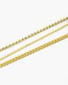 cavigliera tre fili oro giallo