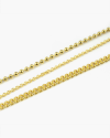 yellow gold three wire anklet