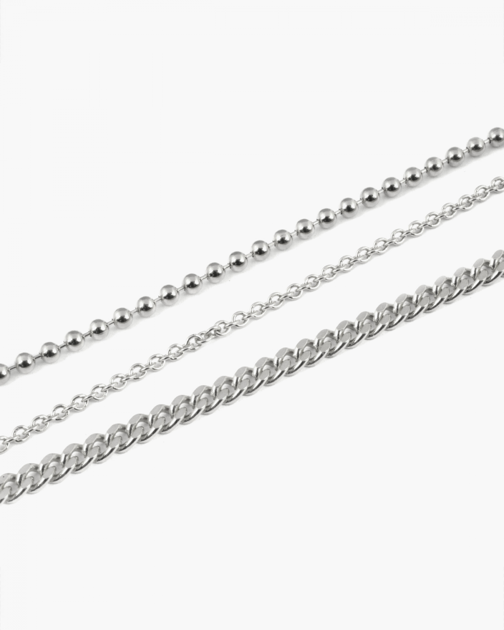 Anklets THREE LAYERS SILVER ANKLET NOVE25