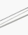 cavigliera tre fili argento