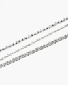 silver three wire anklet