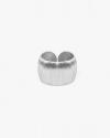 anello bombato satinato argento