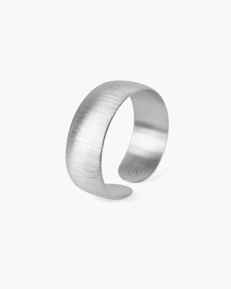 SILVER CONVEX SATIN FINISHED BANGLE