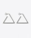 orecchini coppia triangolo aperto filo rettangolare
