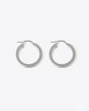 orecchini coppia cerchio a scatto filo quadrato 3 argento