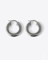 orecchini coppia cerchio a scatto filo quadrato 5 rutenio
