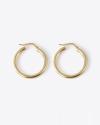 orecchini coppia cerchio a scatto filo tondo 3 oro giallo