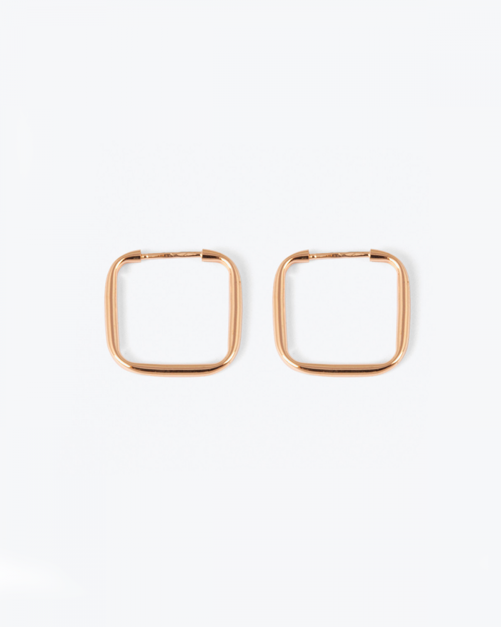 Earrings PINK GOLD SQUARE HOOP PAIR EARRINGS NOVE25