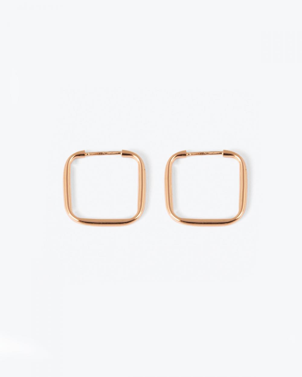 Earrings PINK GOLD SQUARE HOOP PAIR EARRINGS NOVE25