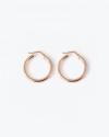 orecchini coppia cerchio a scatto filo tondo 3 oro rosa