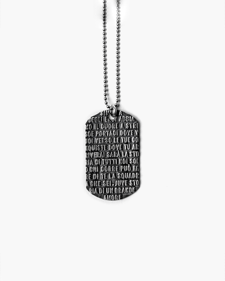 JUVENTUS ARMY PLATE NECKLACE